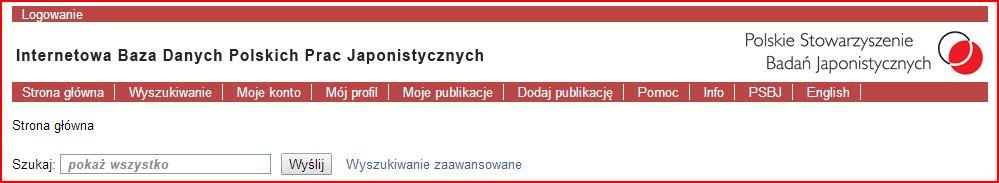 Internetowa Baza Polskich Publikacji Japonistycznych